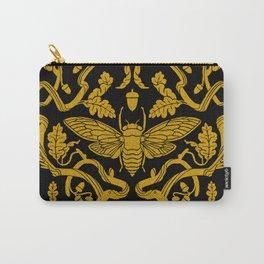 Cicada Oak Damask Carry-All Pouch