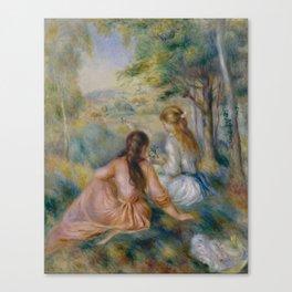 "Pierre-Auguste Renoir ""In the Meadow"" Canvas Print"