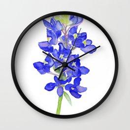 Bluebonnet Watercolor Wall Clock