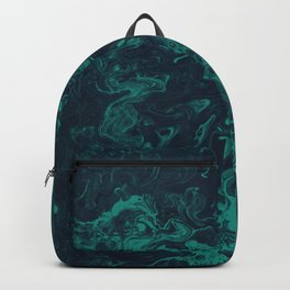 Teal Smoke - An Abstract Piece Backpack