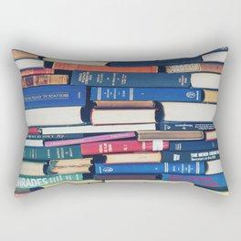 Stack of Books Rectangular Pillow