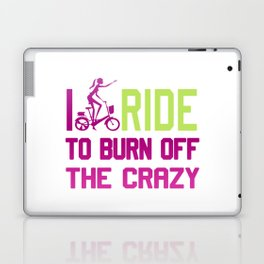 Ride to burn off crazy Laptop & iPad Skin
