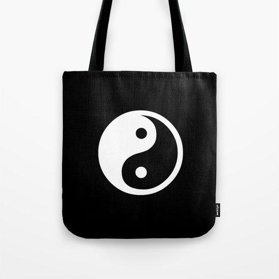 Yin Yang Black White Tote Bag