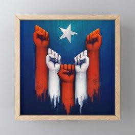 Puerto Rico power of the people Framed Mini Art Print
