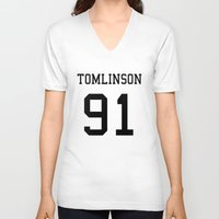 louis tomlinson V-neck T-shirts featuring TOMLINSON by kikabarros