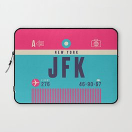 Retro Airline Luggage Tag - JFK New York Laptop Sleeve