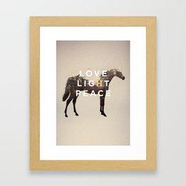LOVE LIGHT PEACE Framed Art Print