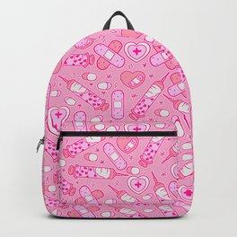 Kawaii Menhera on Pink Backpack