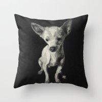 chihuahua Throw Pillows featuring Chihuahua dog  by Sara.pdf