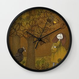 The Queen of Bees and the Princess who loved Honey Wall Clock