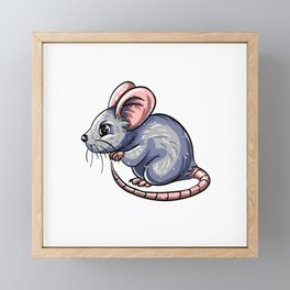 Cute Mouse Framed Mini Art Print