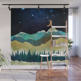 Snowy Night Wall Mural