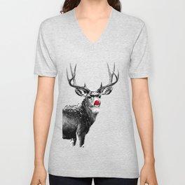 Christmas - Red Nose Reindeer Unisex V-Neck