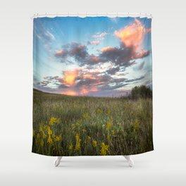 Prairie Fire - Fiery Sky at Sunset in Oklahoma Shower Curtain