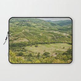 Vineyards landscapes in the morning in Chianti. Laptop Sleeve