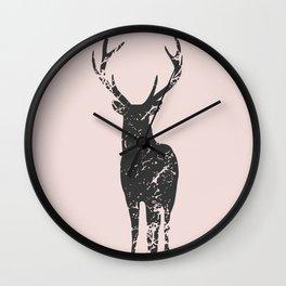 Plain deer modern art Wall Clock