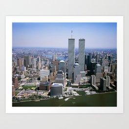 New York City Skyline - World Trade Center Art Print