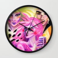 jem Wall Clocks featuring JEM , Pizazz and Riot by Magenta Arts