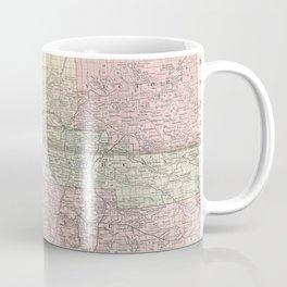Vintage Map of Alberta Canada (1912) Coffee Mug