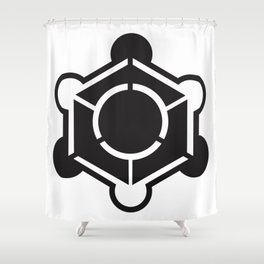 Crop circle design Shower Curtain