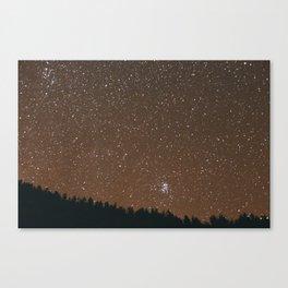 At Night. Canvas Print