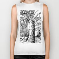 palm tree Biker Tanks featuring Palm tree by ArteGo