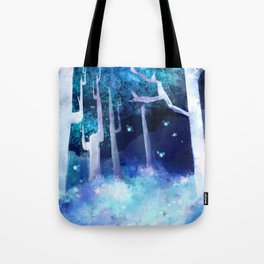 Forest of Fireflies Tote Bag
