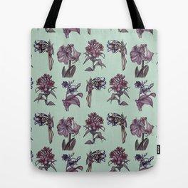 Botanical Florals | Vintage Raspberry Tote Bag