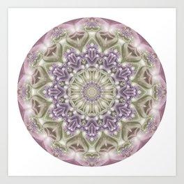 Lilac and Green Mandala Art Print