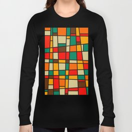 Retro Geometric Bam Bam Long Sleeve T-shirt