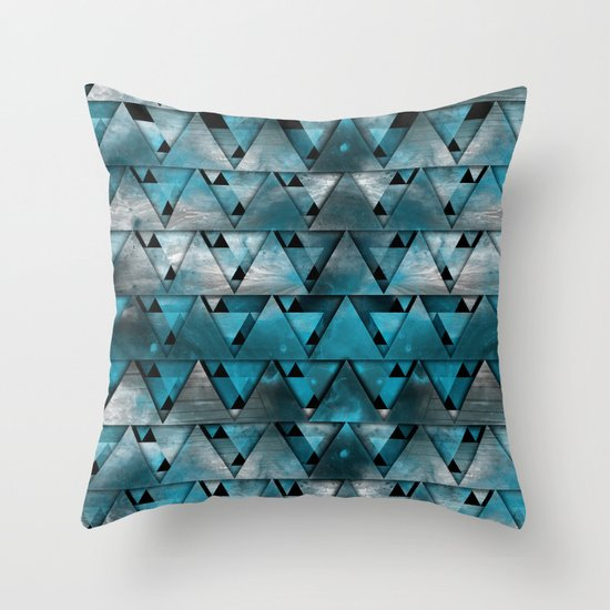 TriangleTracts Throw Pillow