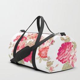 Elise shabby chic on white Duffle Bag