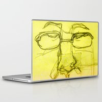 no face Laptop & iPad Skins featuring Face by Alyssa Bascom