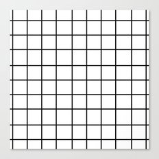 Grid (Black/White) Canvas Print