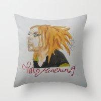 tim shumate Throw Pillows featuring Tim Minchin. by TheArtOfFaithAsylum