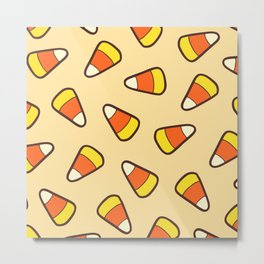 Candy Corn Pattern Metal Print