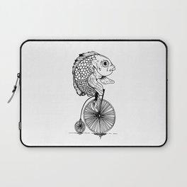 fish on bike Laptop Sleeve