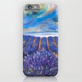 Fields of Lavender landscape painting by Vincent van Gogh iPhone Case