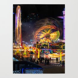 Fairground Attraction panorama Poster