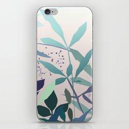 Cute leaves shot iPhone Skin