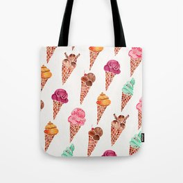Ice Cream Cones – Rainbow Palette Tote Bag