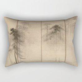 Pine Trees Six-Fold Azuchi-Momoyama Period Japanese Screen - Hasegawa Tohaku Rectangular Pillow