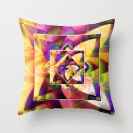 Number 1 Abstract by Mark Compton Throw Pillow