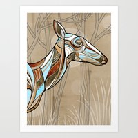 elk Art Prints featuring Elk by dchristo