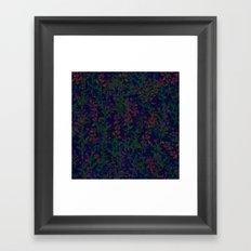 blue fleur Framed Art Print