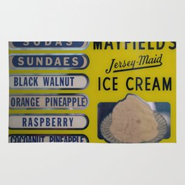 Vintage Ice Cream Sign 2 Rug