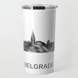 Belgrade Serbia skyline WB BW Travel Mug