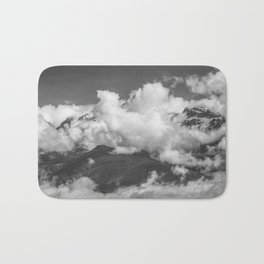 Volcano Chachani Covered by Clouds Bath Mat