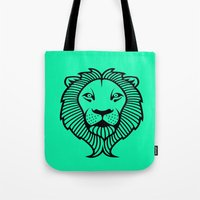 the lion king Tote Bags featuring Lion King by ArtSchool