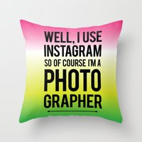 les mis Throw Pillows featuring Mis-concepting #2 by nicolejaclyn